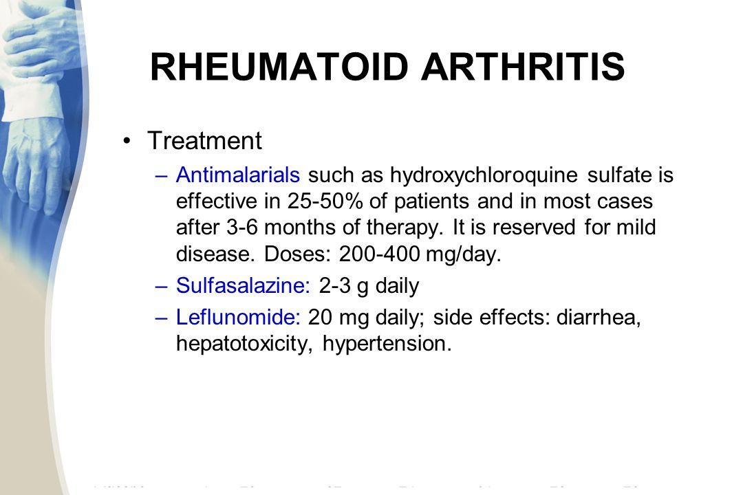 Arava Rheumatoid Arthritis Side Effects