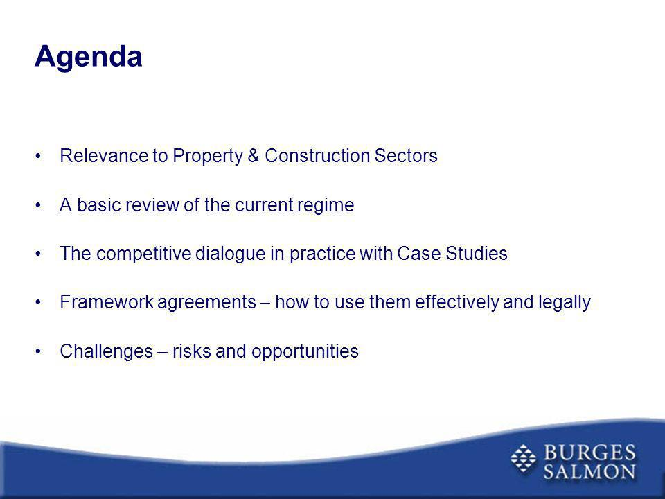 Agenda Relevance to Property & Construction Sectors