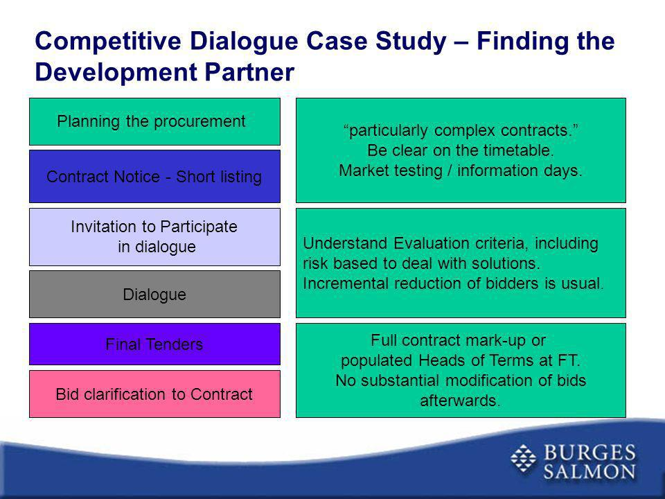 Competitive Dialogue Case Study – Finding the Development Partner