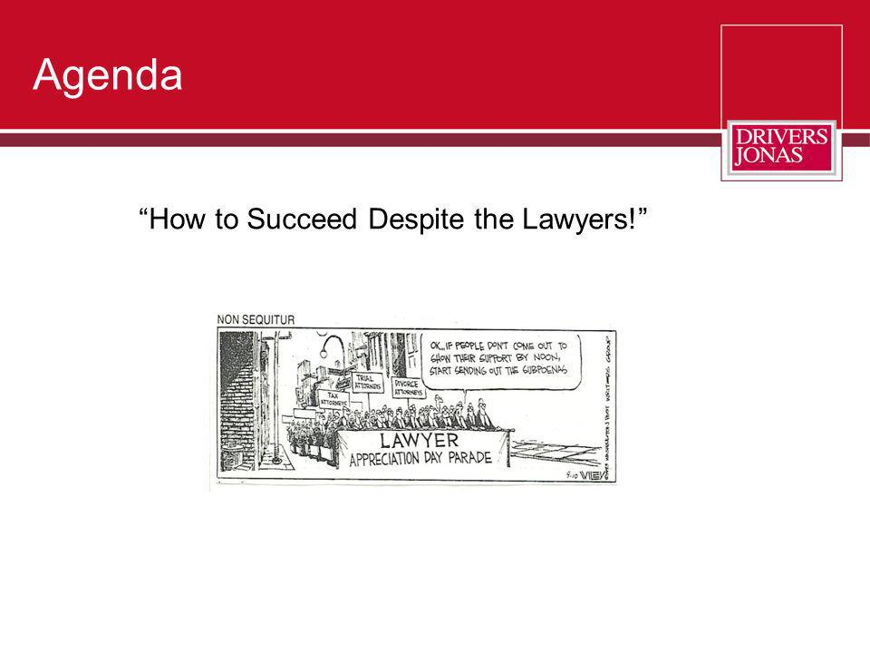 How to Succeed Despite the Lawyers!