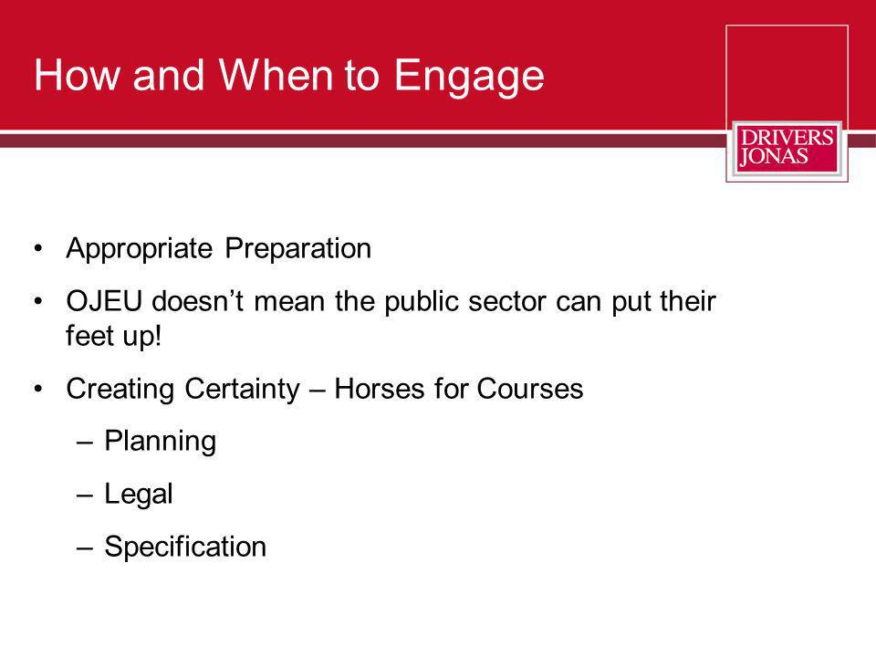 How and When to Engage Appropriate Preparation