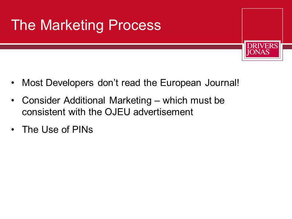 The Marketing Process Most Developers don't read the European Journal!