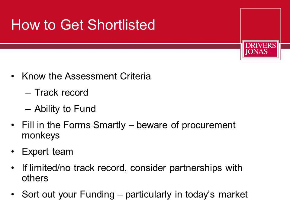 How to Get Shortlisted Know the Assessment Criteria Track record
