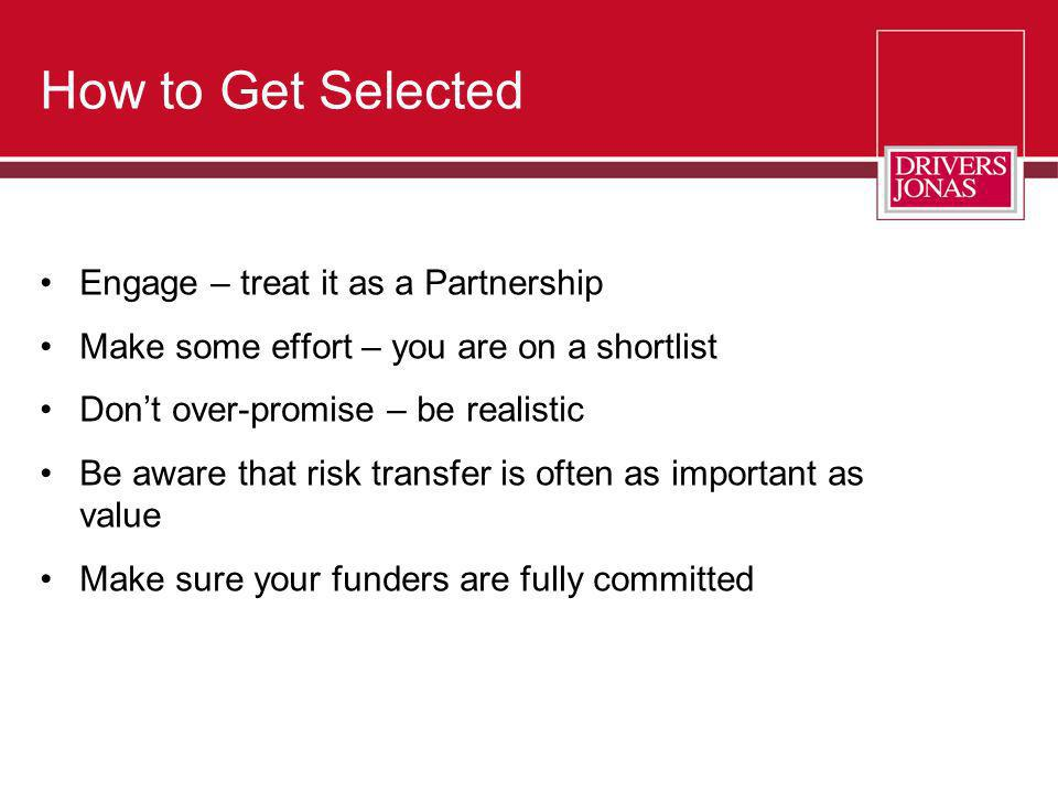 How to Get Selected Engage – treat it as a Partnership