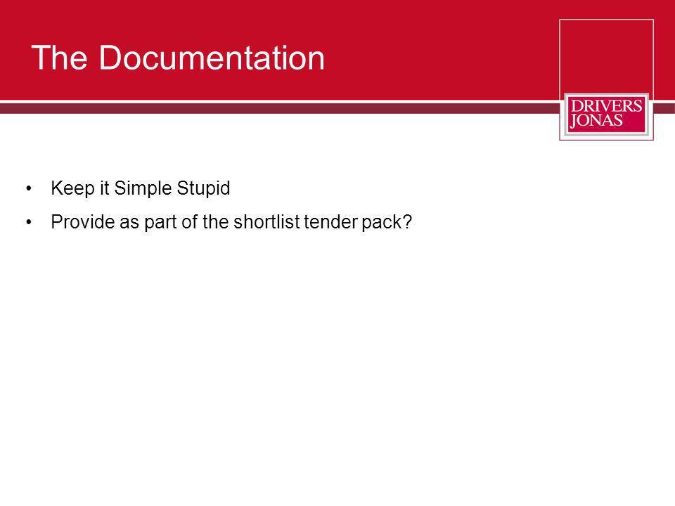 The Documentation Keep it Simple Stupid