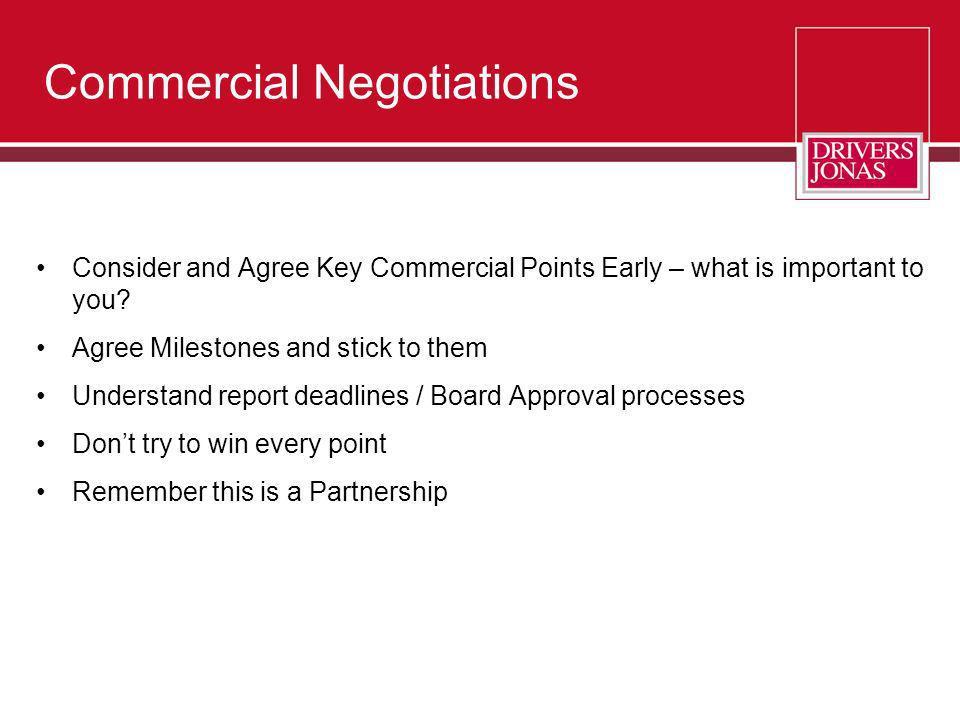 Commercial Negotiations