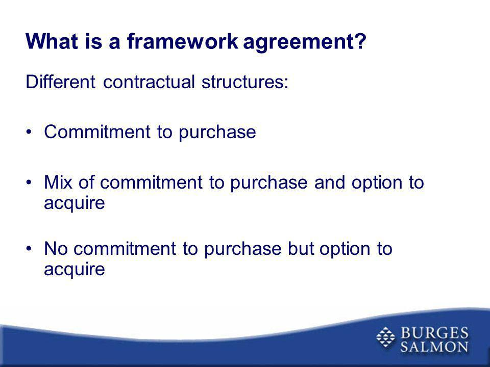 What is a framework agreement