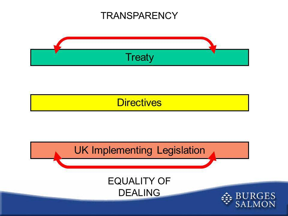 UK Implementing Legislation