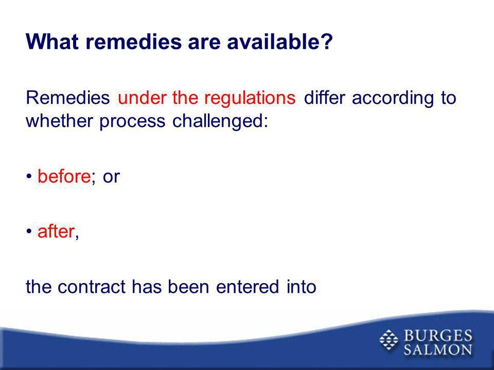What remedies are available