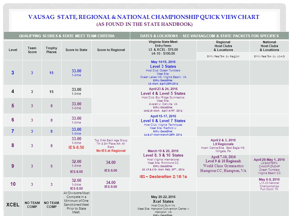 ny usag level 9 state meet age groups