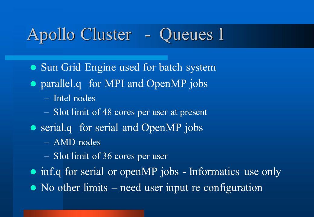 Apollo Cluster - Queues 1