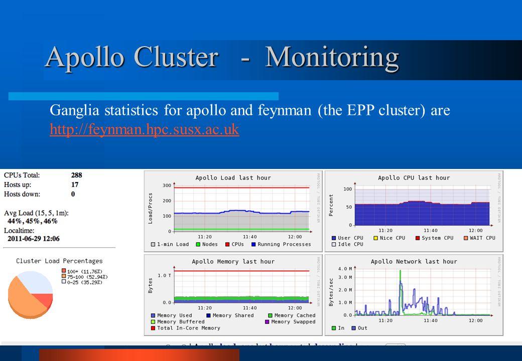 Apollo Cluster - Monitoring