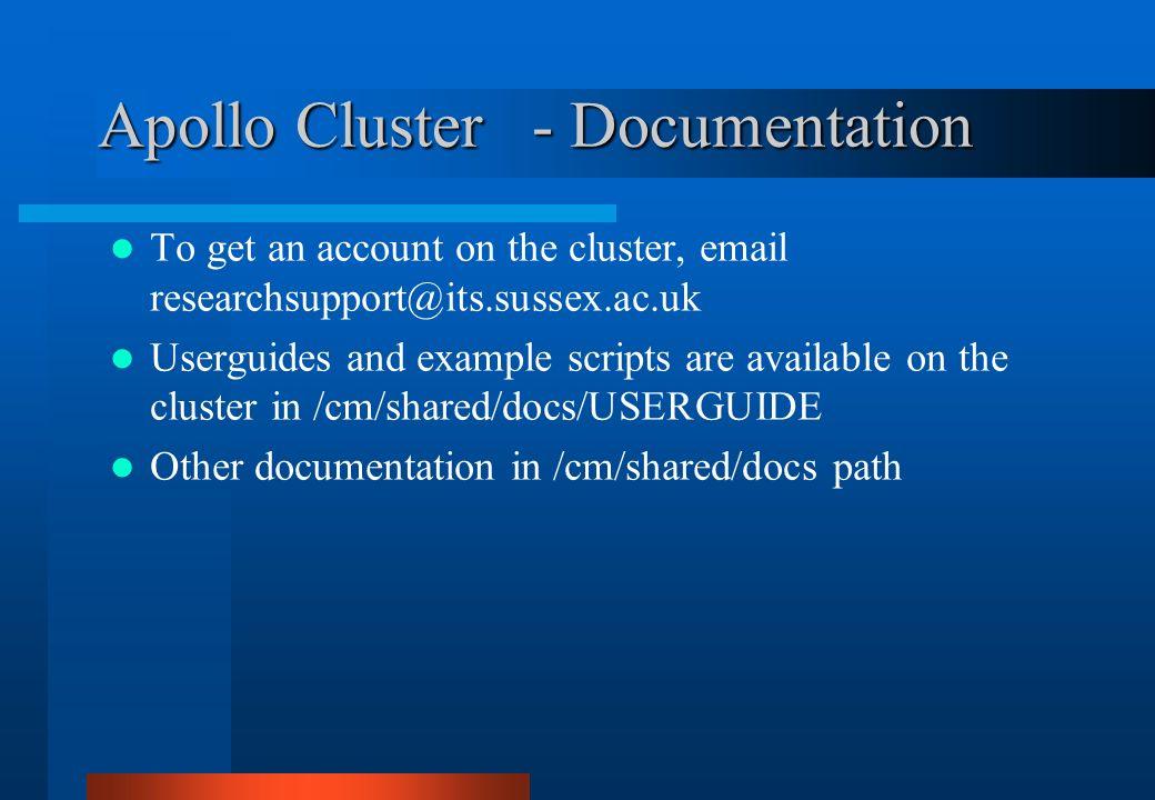 Apollo Cluster - Documentation