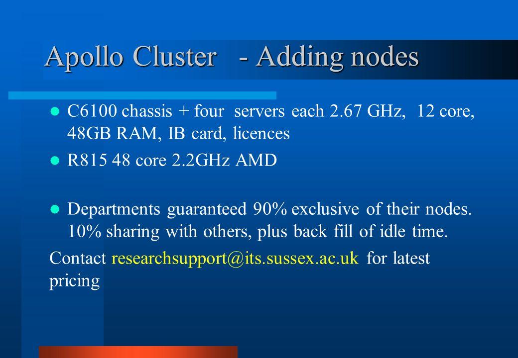 Apollo Cluster - Adding nodes