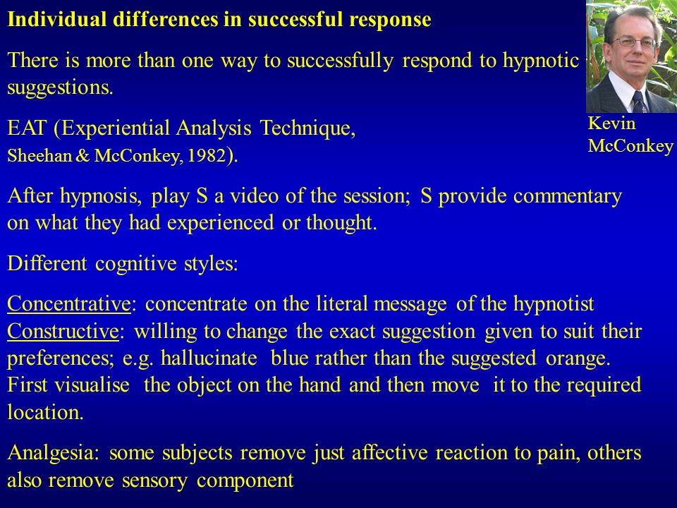 Individual differences in successful response