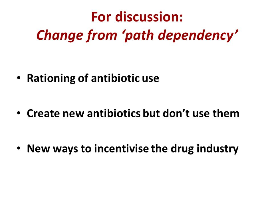 For discussion: Change from 'path dependency'