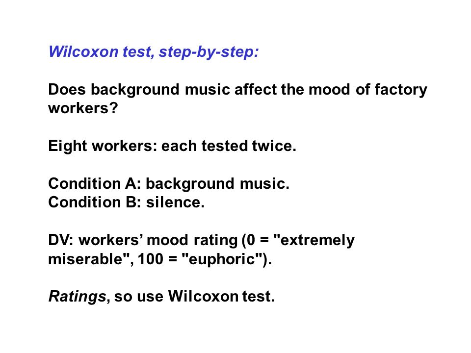 Wilcoxon test, step-by-step: