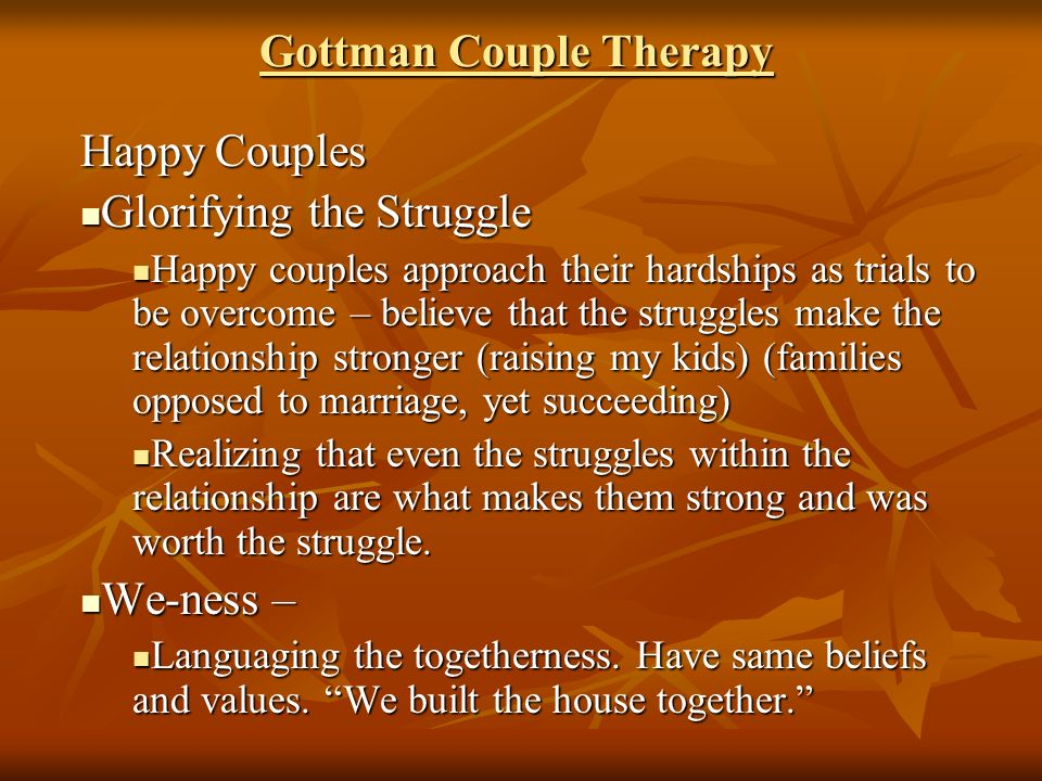 intro to couples therapy Specializing in relationship-focused therapy: individual, marriage and couples  counseling.