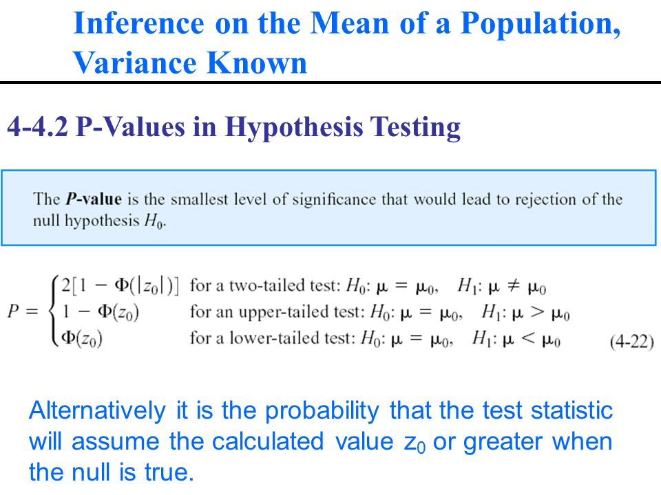 inference in population variance A common assumption made when comparing two population means is that the variance of the two chapter 7: two-sample inference 6 two-sample.
