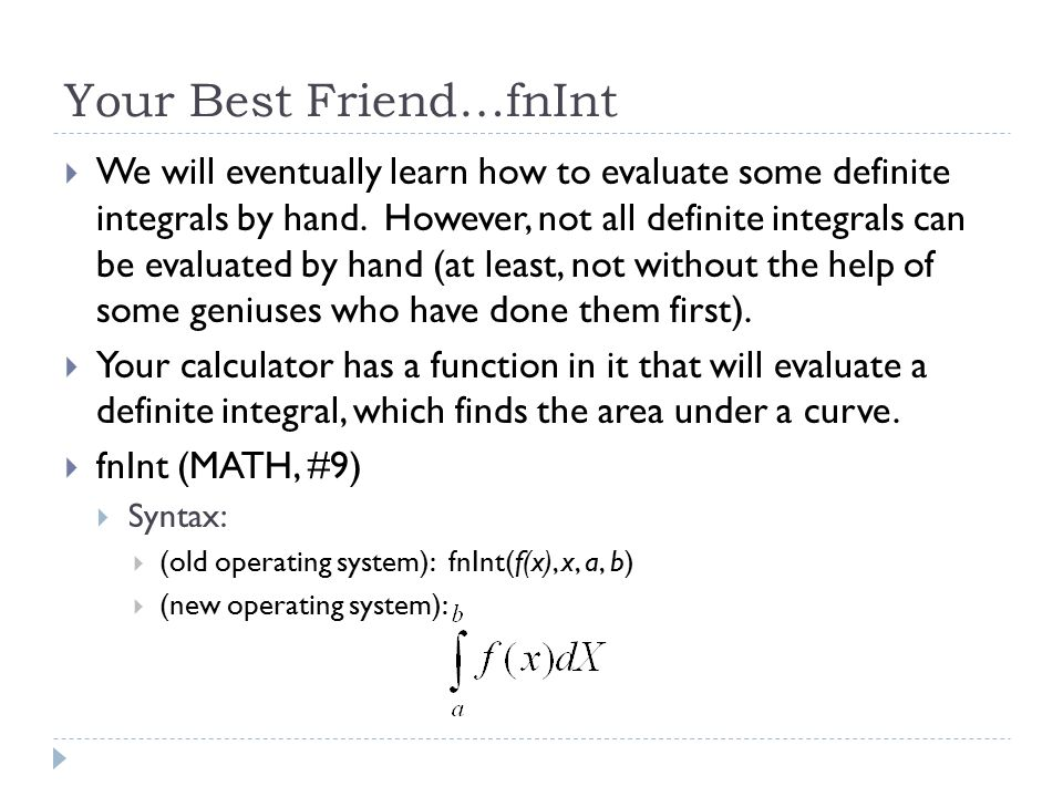 Your Best Friend…fnInt