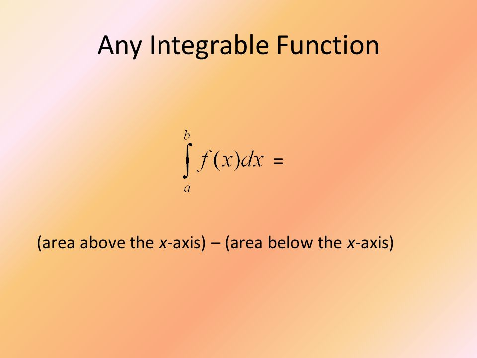 Any Integrable Function