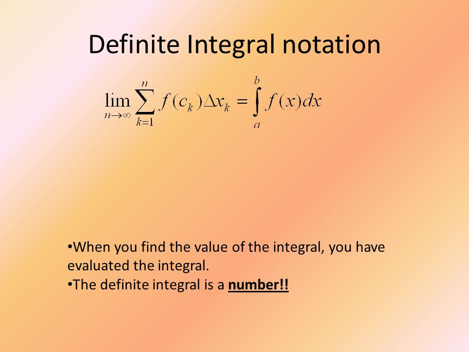 Definite Integral notation