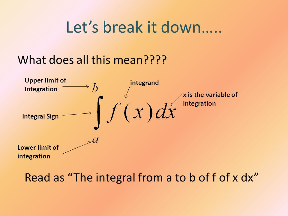 Let's break it down….. What does all this mean
