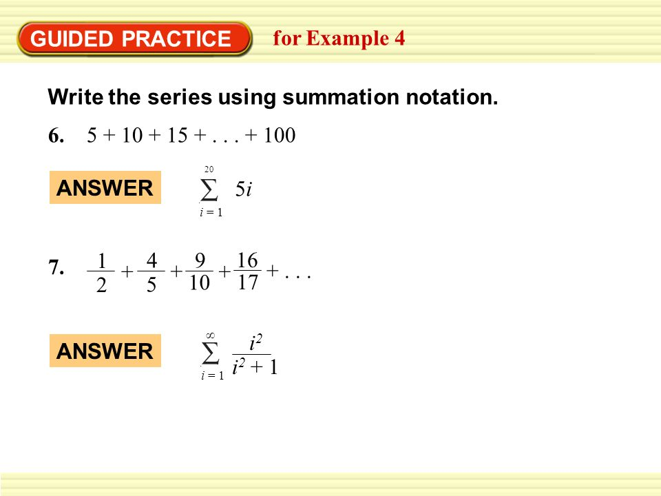 How to write a notation