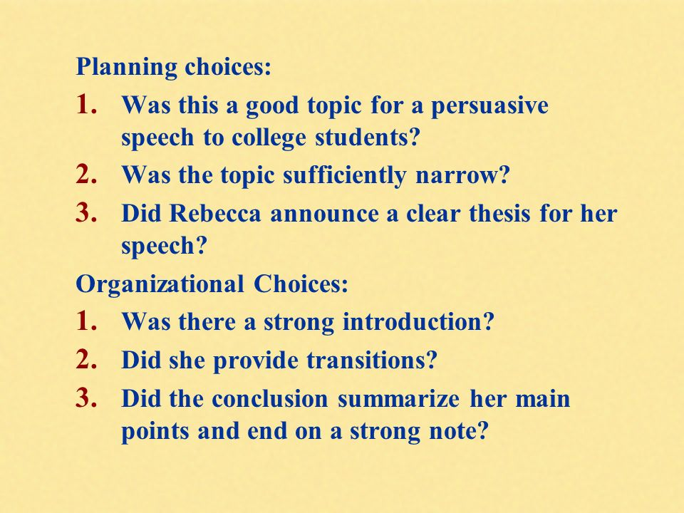 Informative Speech Topics