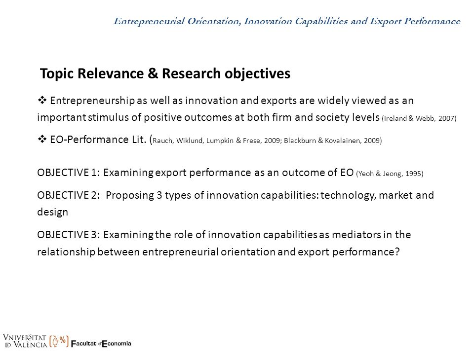 Topic Relevance & Research objectives