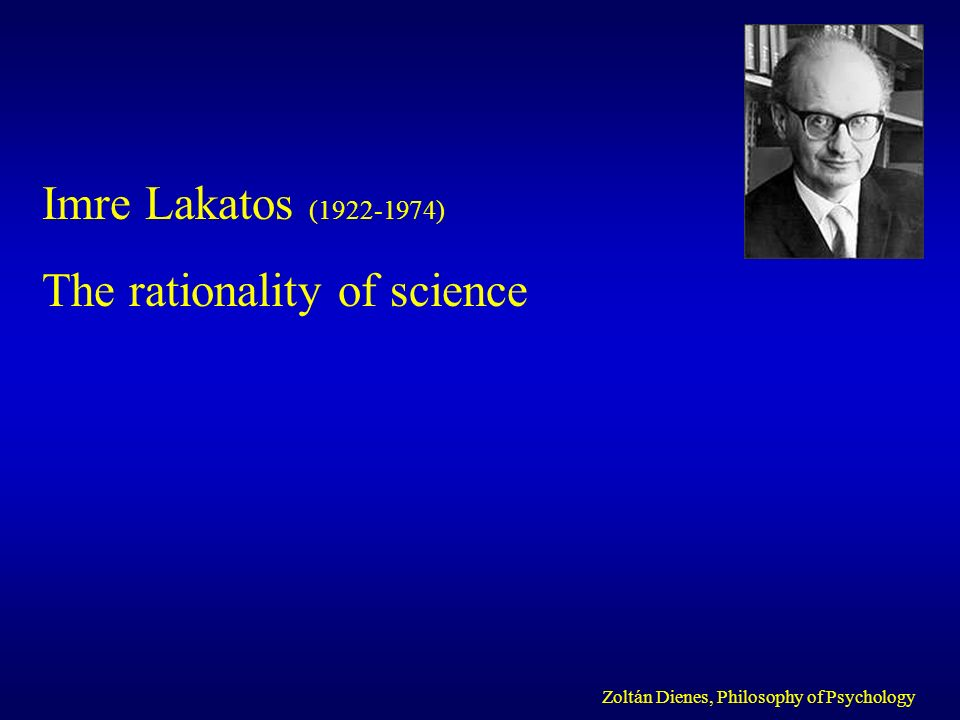 The rationality of science