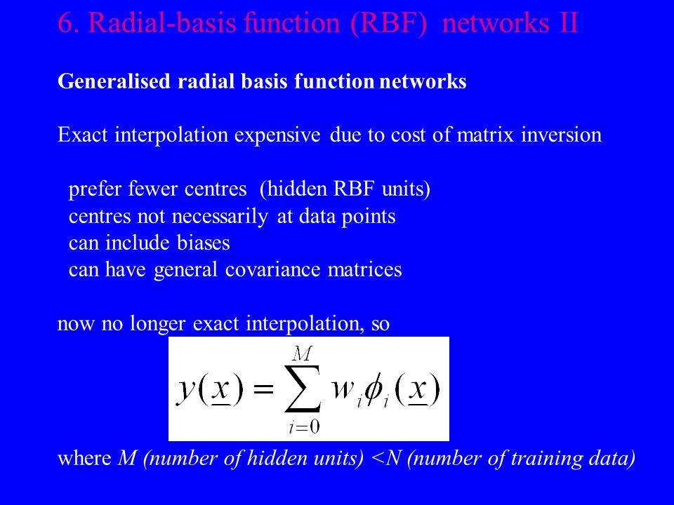 6. Radial-basis function (RBF) networks II