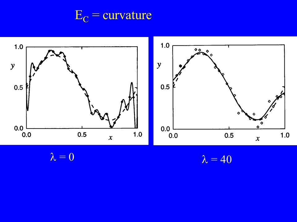 EC = curvature l = 0 l = 40