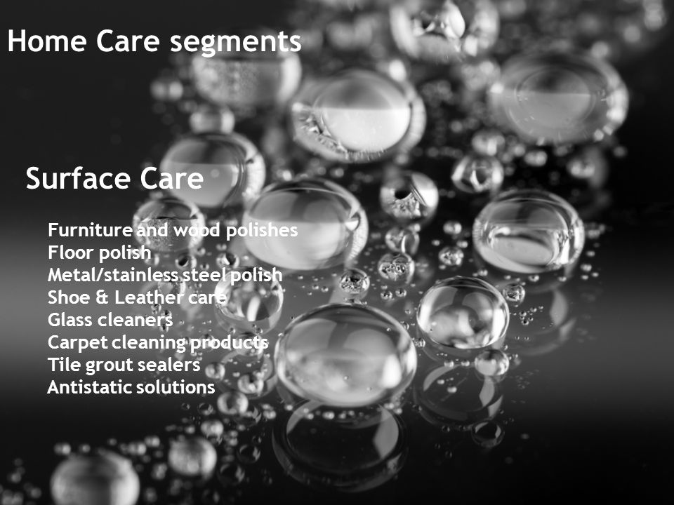 2 Home Care segments Surface Care Furniture. Home Care    ppt download