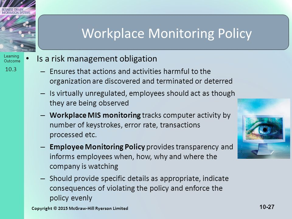 a research on monitoring employees in the workplace Can employers use video monitoring in the workplace for the most part, yes video monitoring is a commonplace method of deterring theft, maintaining security and monitoring employees.