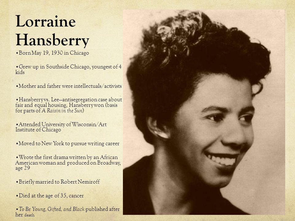 a literary analysis of the younger family in a raisin in the sun by lorraine hansberry