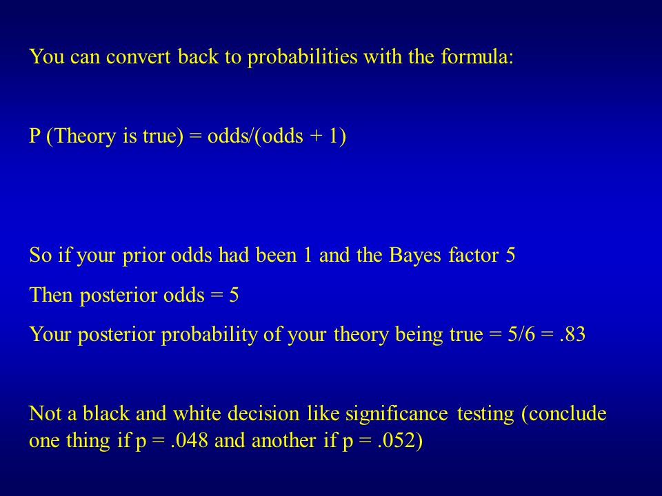 You can convert back to probabilities with the formula: