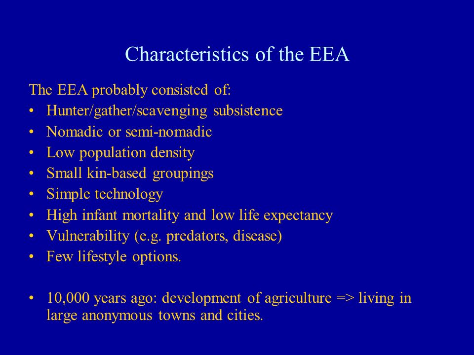 Characteristics of the EEA