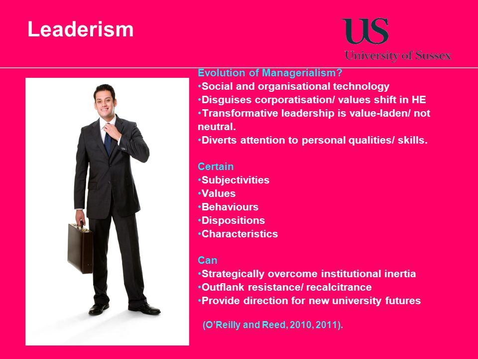 Leaderism Evolution of Managerialism