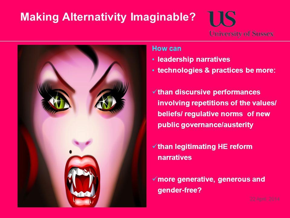 Making Alternativity Imaginable