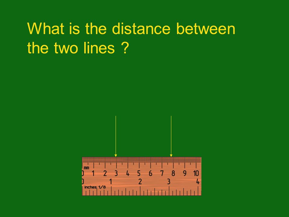What is the distance between the two lines
