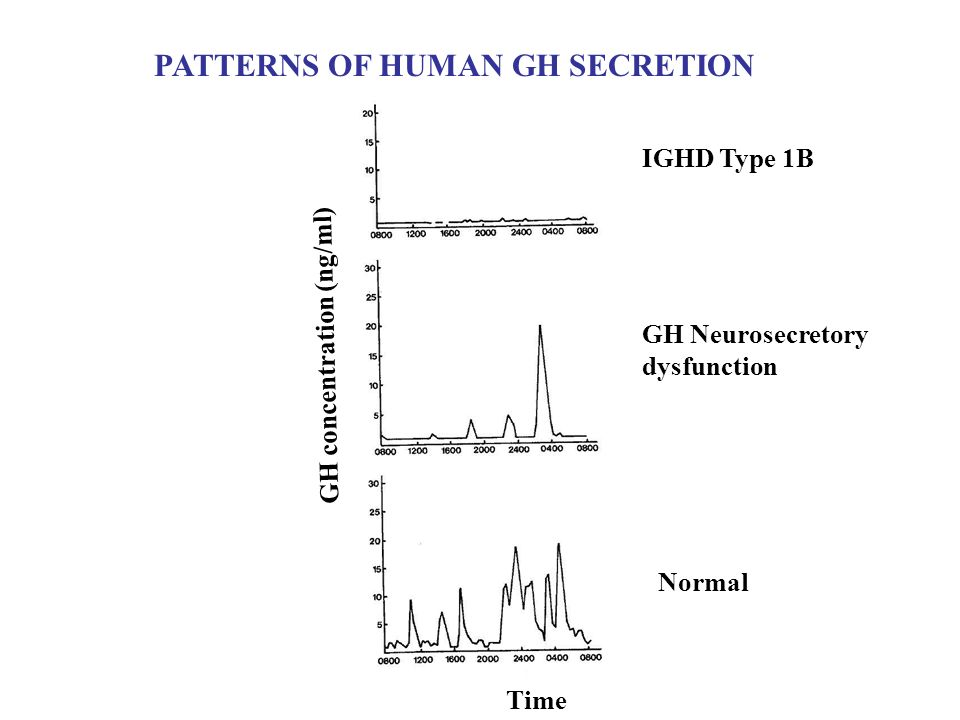 PATTERNS OF HUMAN GH SECRETION
