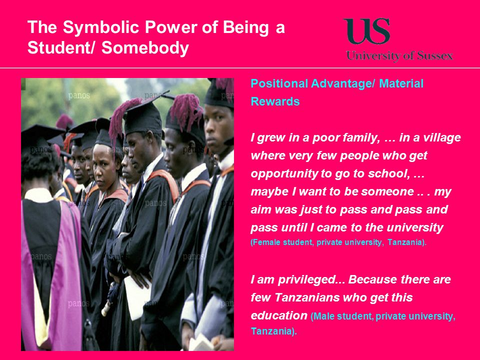 The Symbolic Power of Being a Student/ Somebody