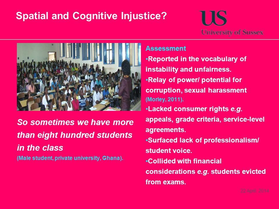 Spatial and Cognitive Injustice