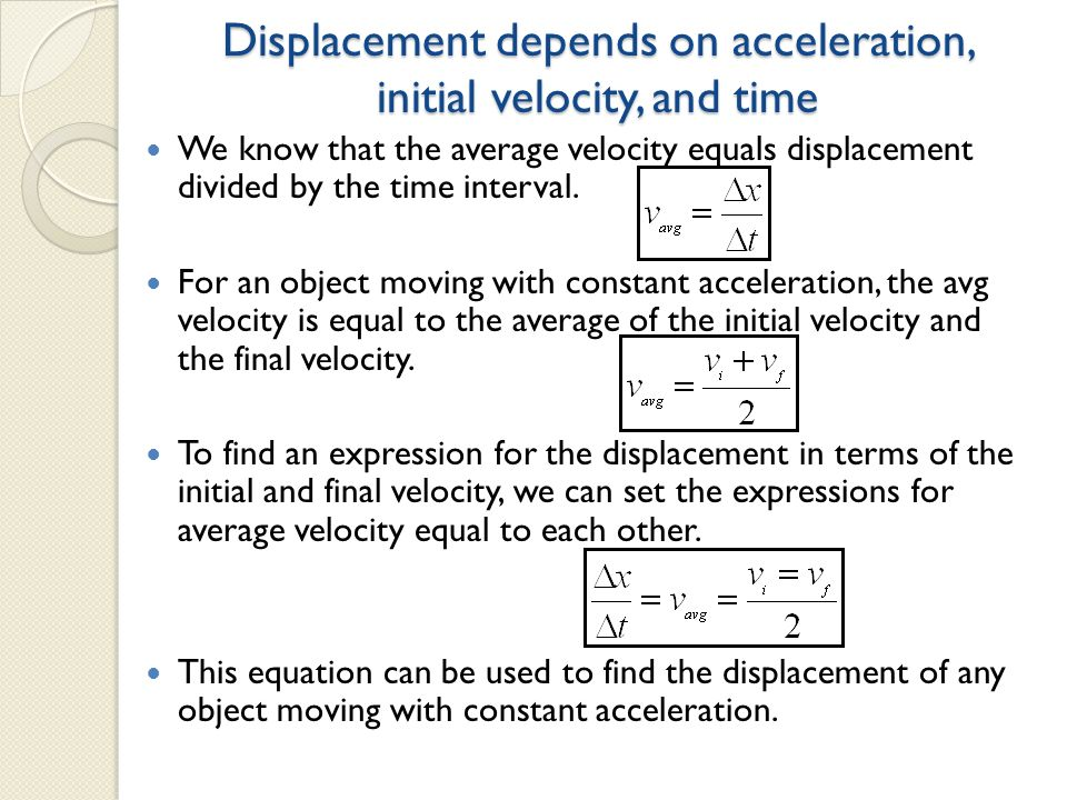 displacement velocity and acceleration pdf