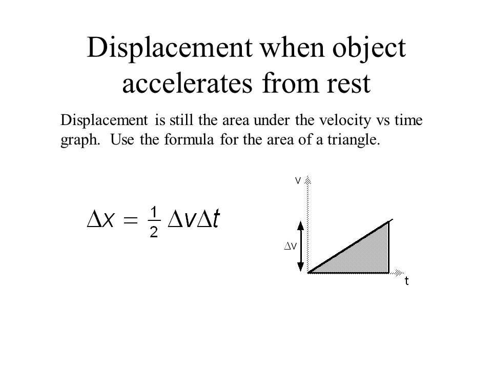 how to find displacement with velocity and time
