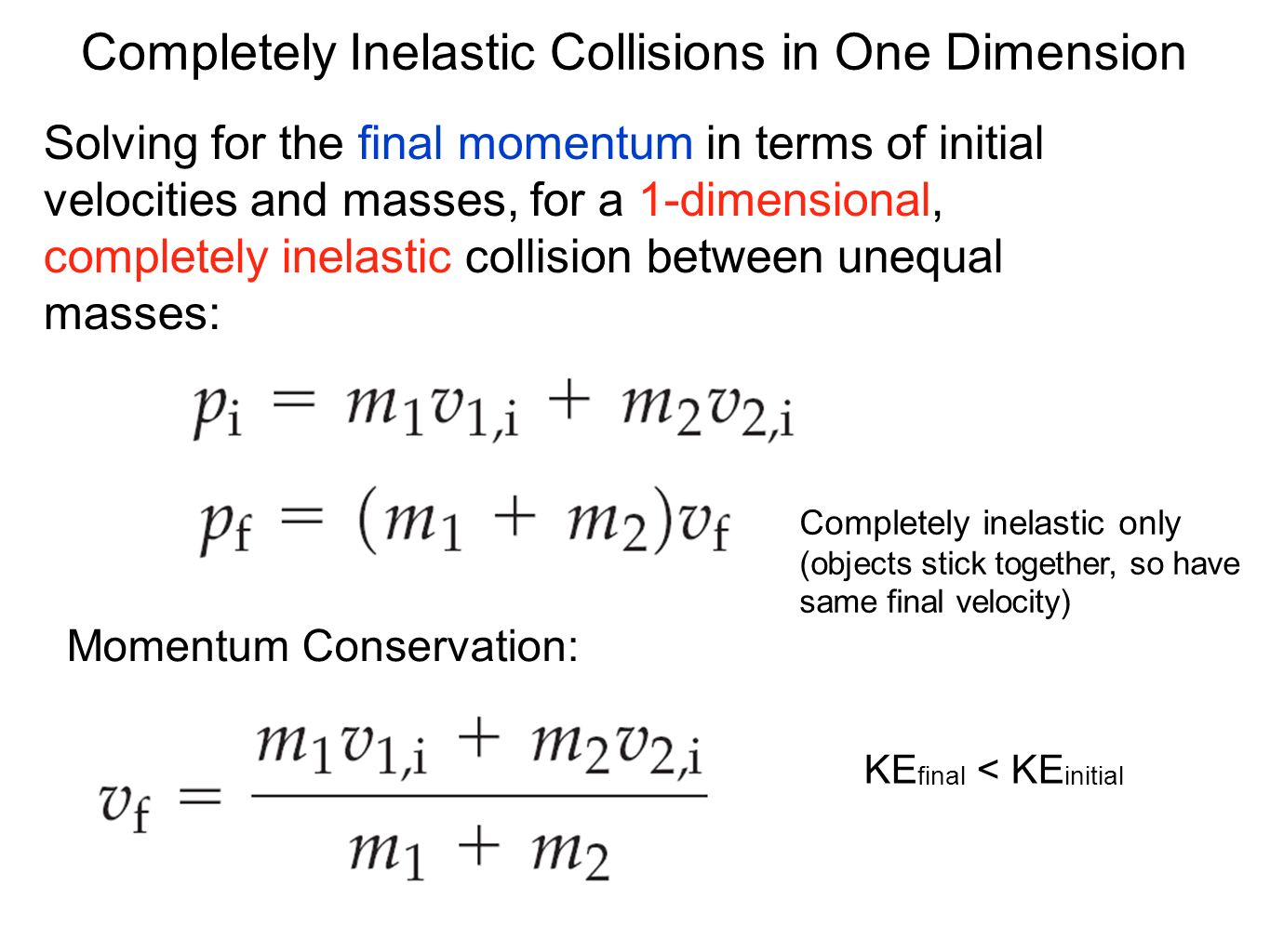 inelastic collision Paul andersen compares and contrasts elastic and inelastic collisions in all collisions the linear momentum will be conserved in an elastic collision the kinetic energy of the objects will also be maintained several examples and demonstrations are included.