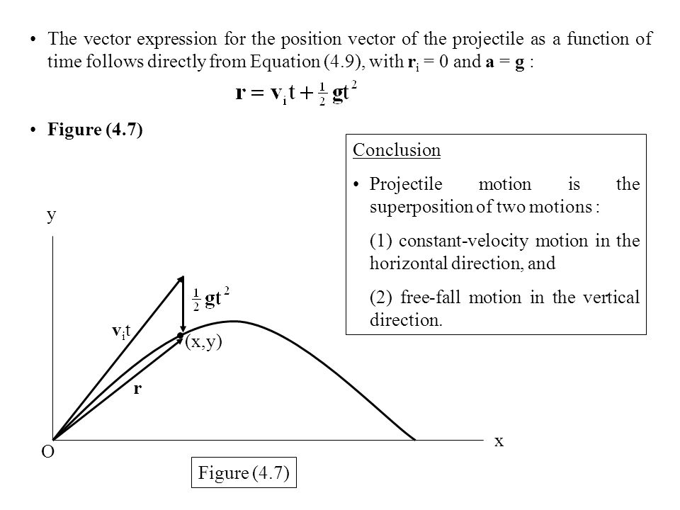 projectile motion conclusion Projectile motion in this lab, we will study projectile motion, which is a special case of two-dimensional motion in a two-dimensional space, an object's position is given by a pair of numbers (coordinates.