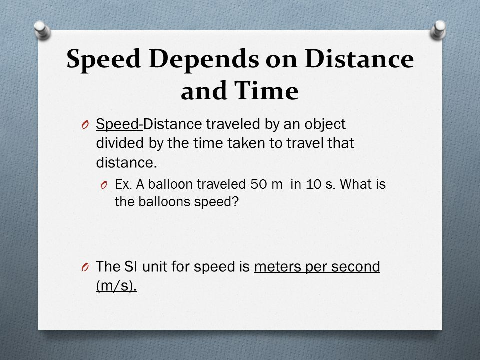 how to find the time taken with distance and speed