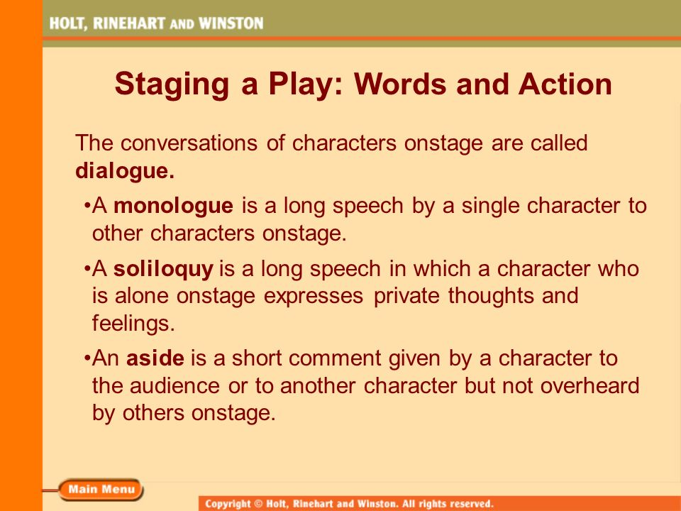 What is an example of a soliloquy, a monologue, aside, and stage direction in The Crucible?